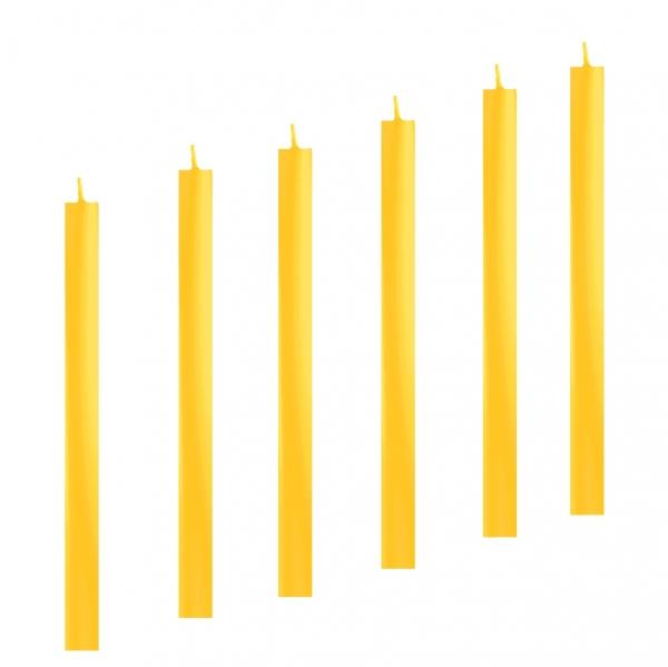 stabkerze arte gelb