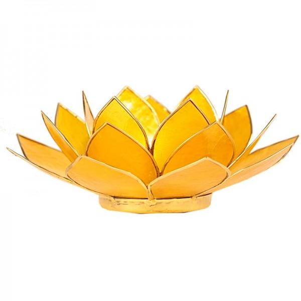 Lotus Teelichthalter, Kerzenhalter in Gelb