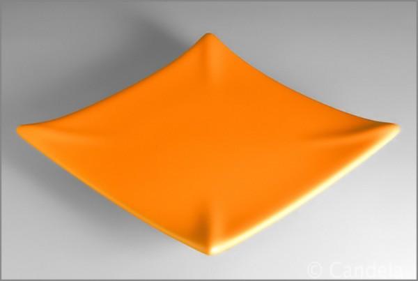 Kerzenuntersetzer Keramik orange