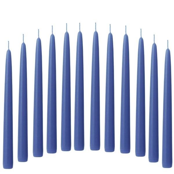 12 Spitzkerzen blau
