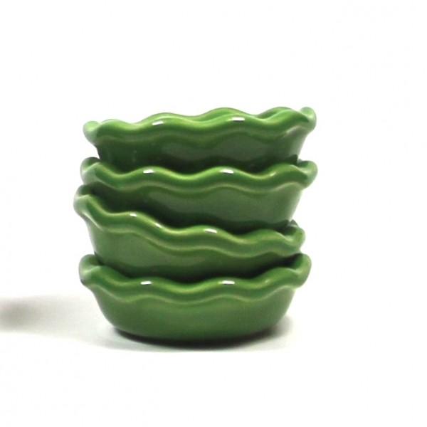 4 Kerzenhalter Emile Henry grün