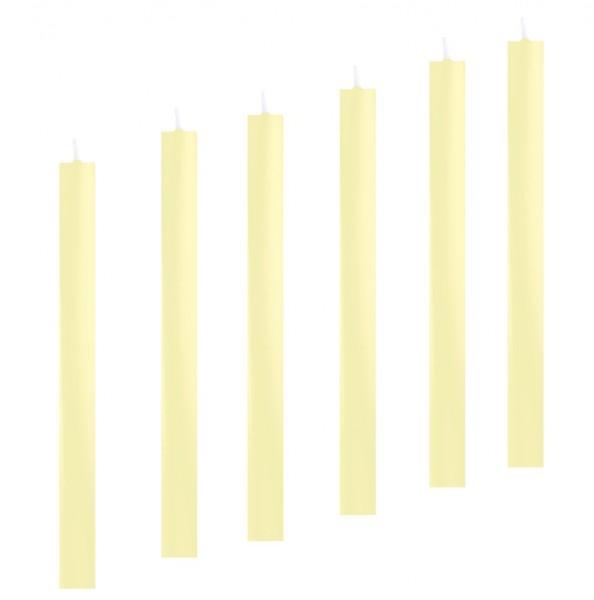 6 Stabkerzen Leuchterkerzen elfenbein arte 22 x 300 mm