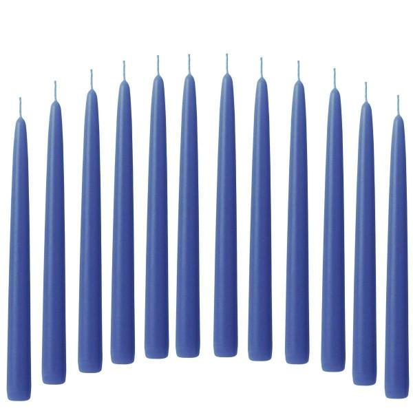 12 Spitzkerzen blau brillantblau 21/240 mm