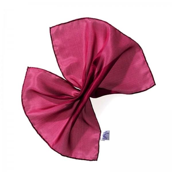 Einstecktuch Seidentuch 100 % Seide purpur 28 x 28 cm