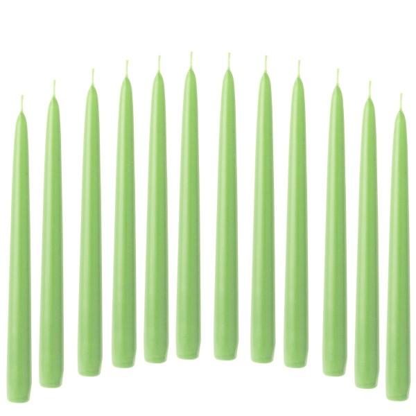 12 Spitzkerzen grün, opal green