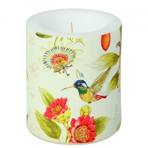 Windlicht Kolibri HUMMINGBIRD AND BLOSSOMS