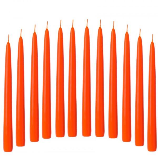 Spitzkerze Leuchterkerze orange 12 Stück 21/240 mm