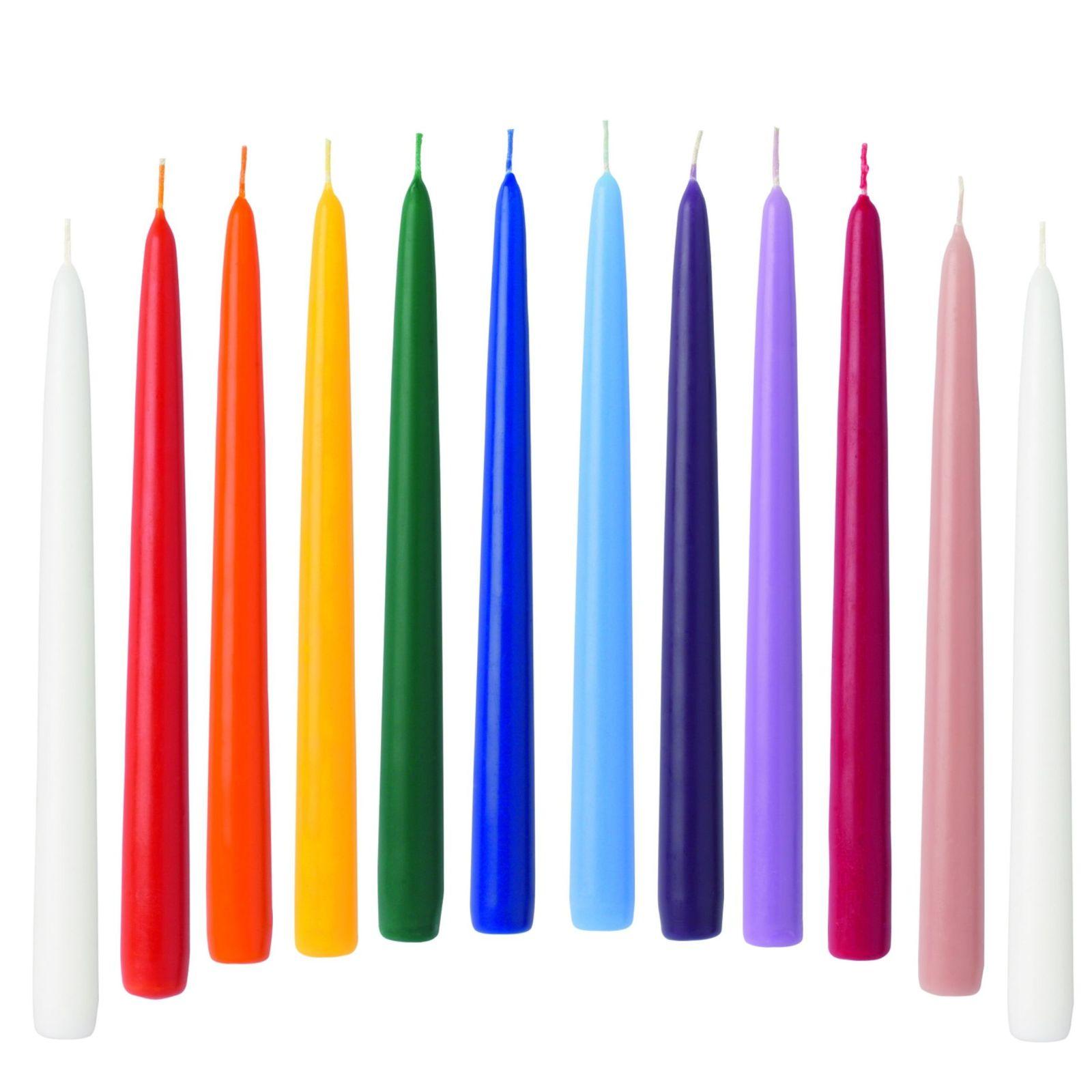 12-Spitzkerzen-in-Regenbogenfarben