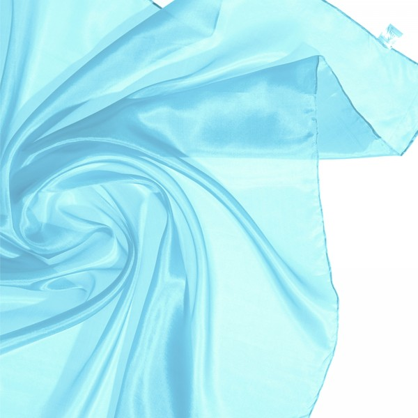 Seidentuch Halstuch Kopftuch 100 % Seide blau, türkis 90 x 90cm