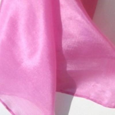 Halstuch klein Seidentuch Nickituch 100 % Seide pink 55 x 55 cm