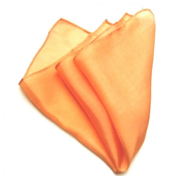 einstecktuch seide hell orange