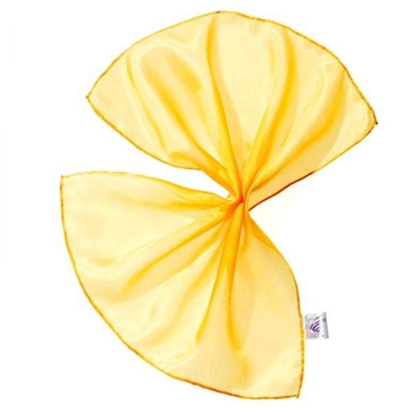 Seidentuch Einstecktuch 100 % Seide gelb 28 x 28 cm