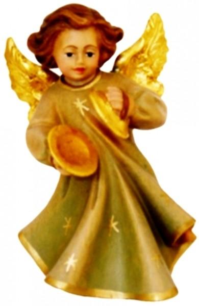 Engel mit Tschinellen, Ahornholz, farbig lasiert