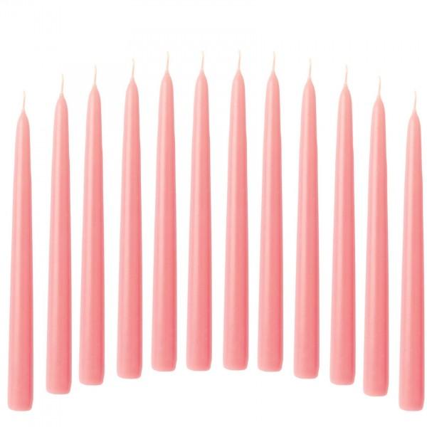 Leuchterkerze Spitzkerze 12 Stück rosa 21/240 mm durchgefärbtes Wachs