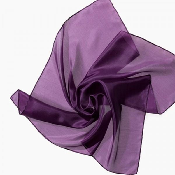 Seidentuch Nickituch 100 % Seide violett 55 x 55 cm-