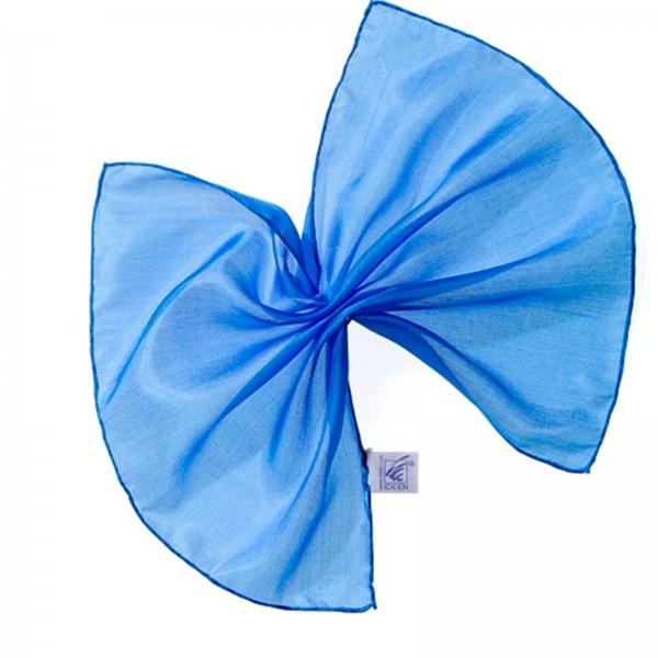 Seidentuch Einstecktuch 100 % Seide brillant blau 28 x 28 cm