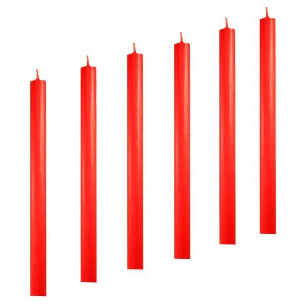 Stabkerzen Leuchterkerzen rot arte 22 x 300 mm durchgefärbt 6 Stück