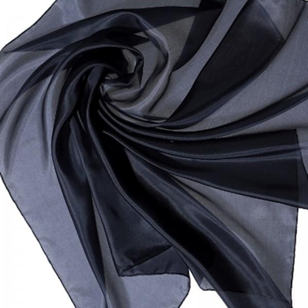 Halstuch Seidentuch Kopftuch 100 % Seide blau marine 90 x 90cm