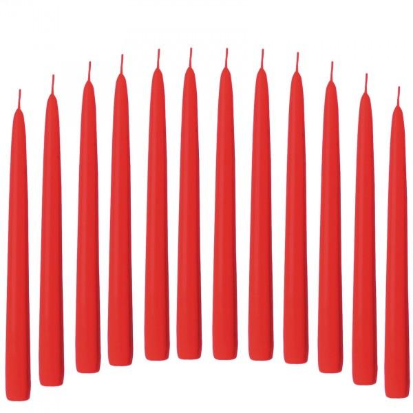 12 Spitzkerzen rot orange 21/240 mm