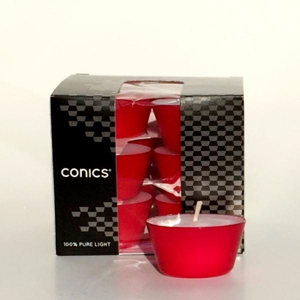 Teelicht Conics rot