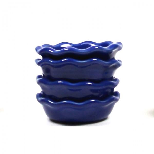4 Kerzenhalter Emile Henry blau