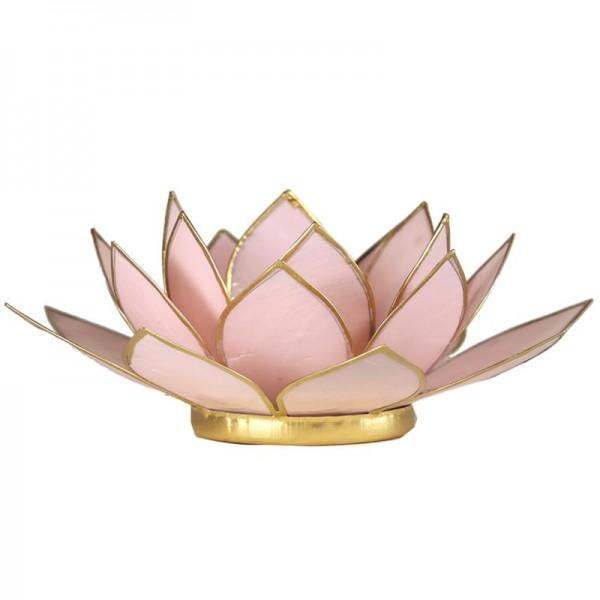 Lotus Teelichthalter, Kerzenhalter Rosa