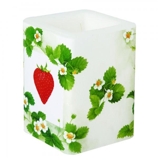 Windlicht Erdbeeren FRAISE green