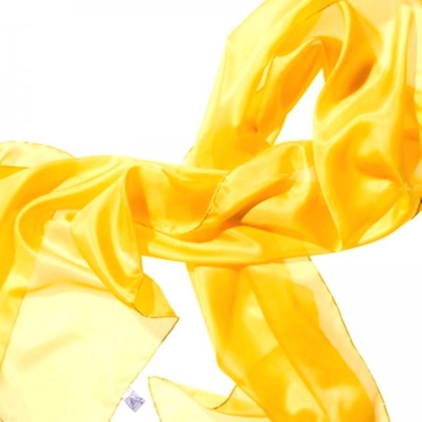 Seidenschal 100 % Seide gelb indisch 180 x 45 cm